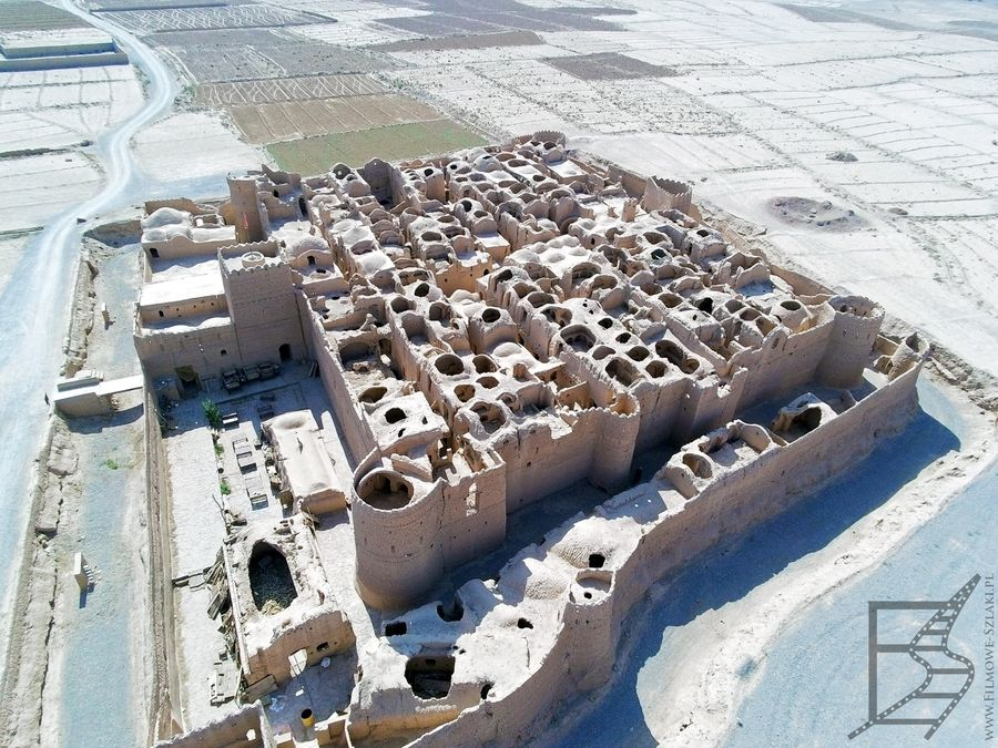 Zamek Saryazd z góry