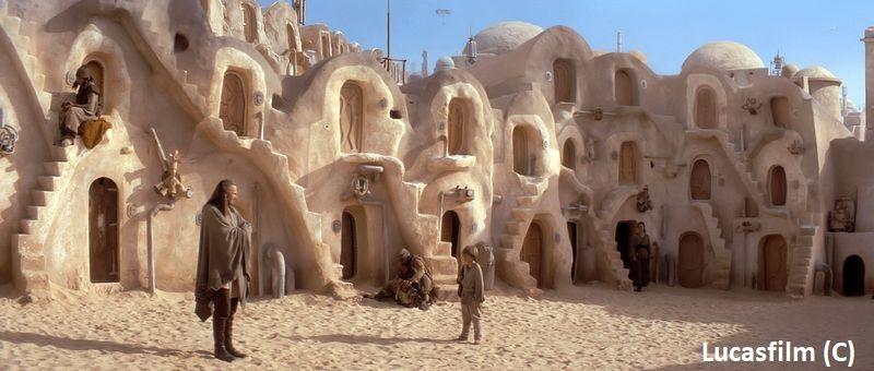"""Ksar w Madanin (Tunezja) to kwatery niewolników w Mos Espa na Tatooine (""""Star Wars: Mroczne Widmo"""")"""