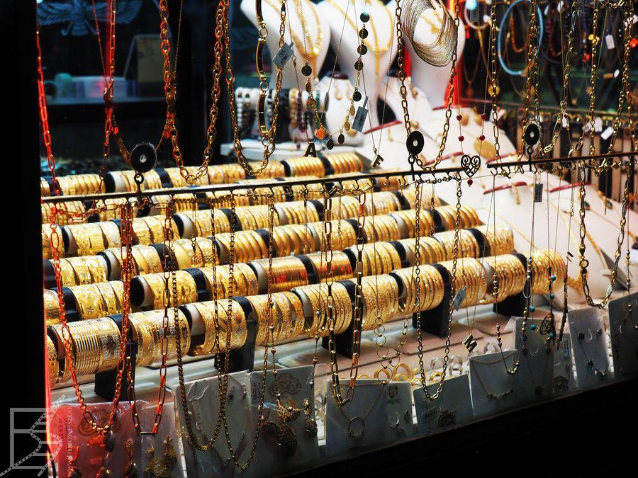 Złoto na bazarze w Sziraz