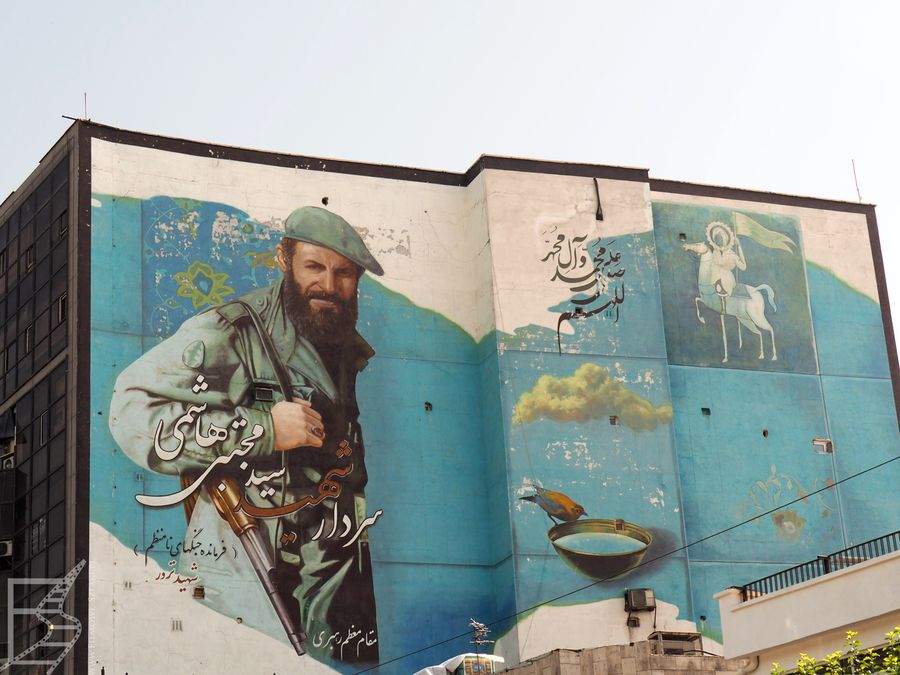 Mural w Teheranie