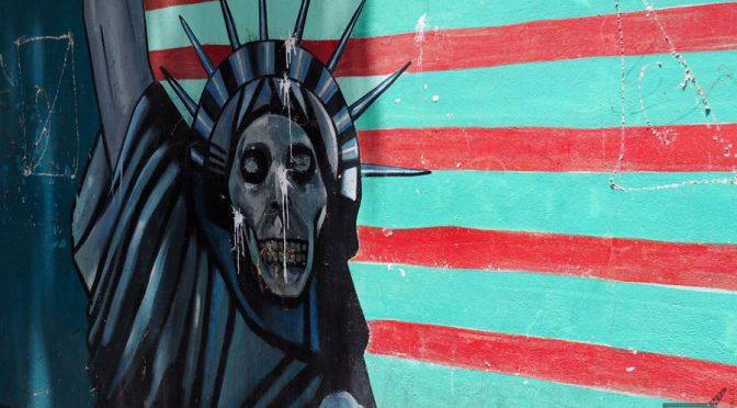 Mural przy byłej ambasadzie amerykańskiej, Teheran