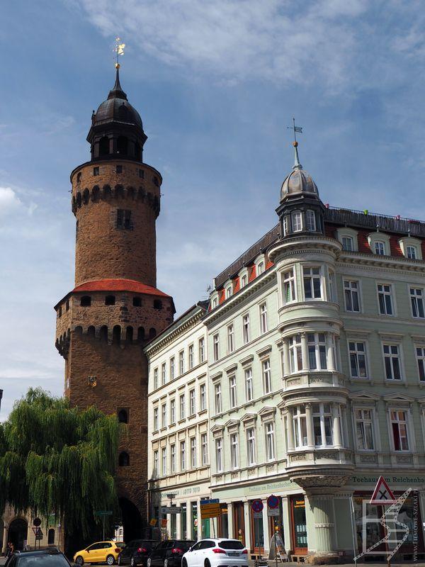 Wieża obronna Reichenbacher i fragment dolnego rynku