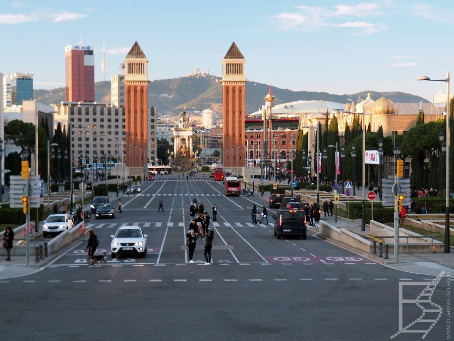 Widok na plac Hiszpański (Barcelona)