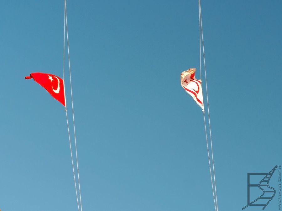 Flagi Cypru Północnego i Turcji (Nikozja, Cypr Północny)