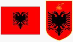 Flaga i godło Albanii (za wikipedia.org)